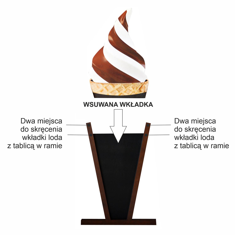 Potykacz reklamowy w kształcie lodów gałkowych - WALBA