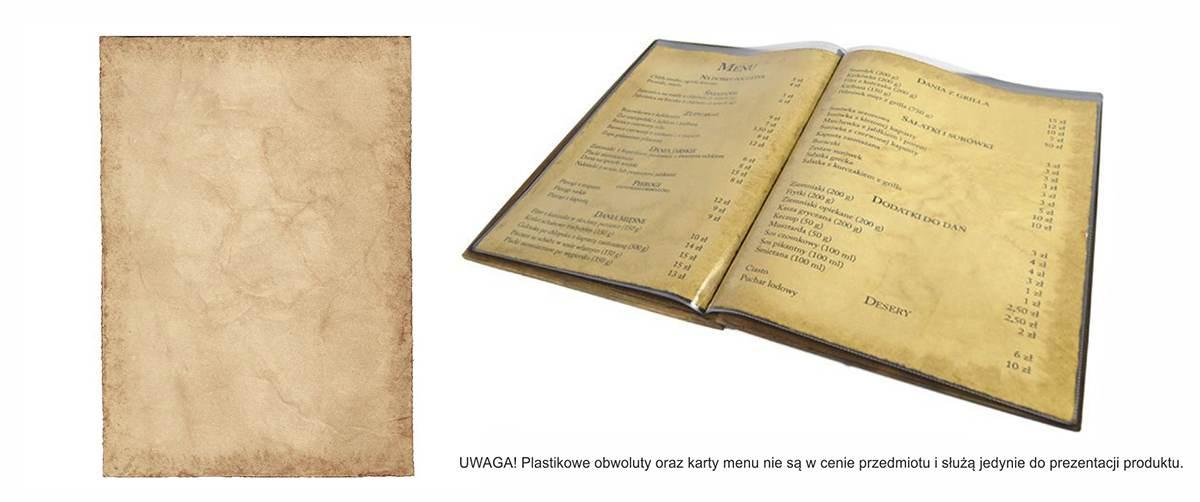 Papier ozdobny RETRO o cieniowanym brzegu do menu - WALBA