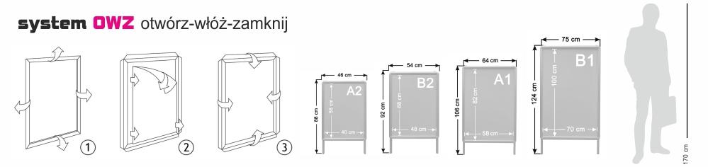 Potykacze aluminiowe typu OWZ - WALBA